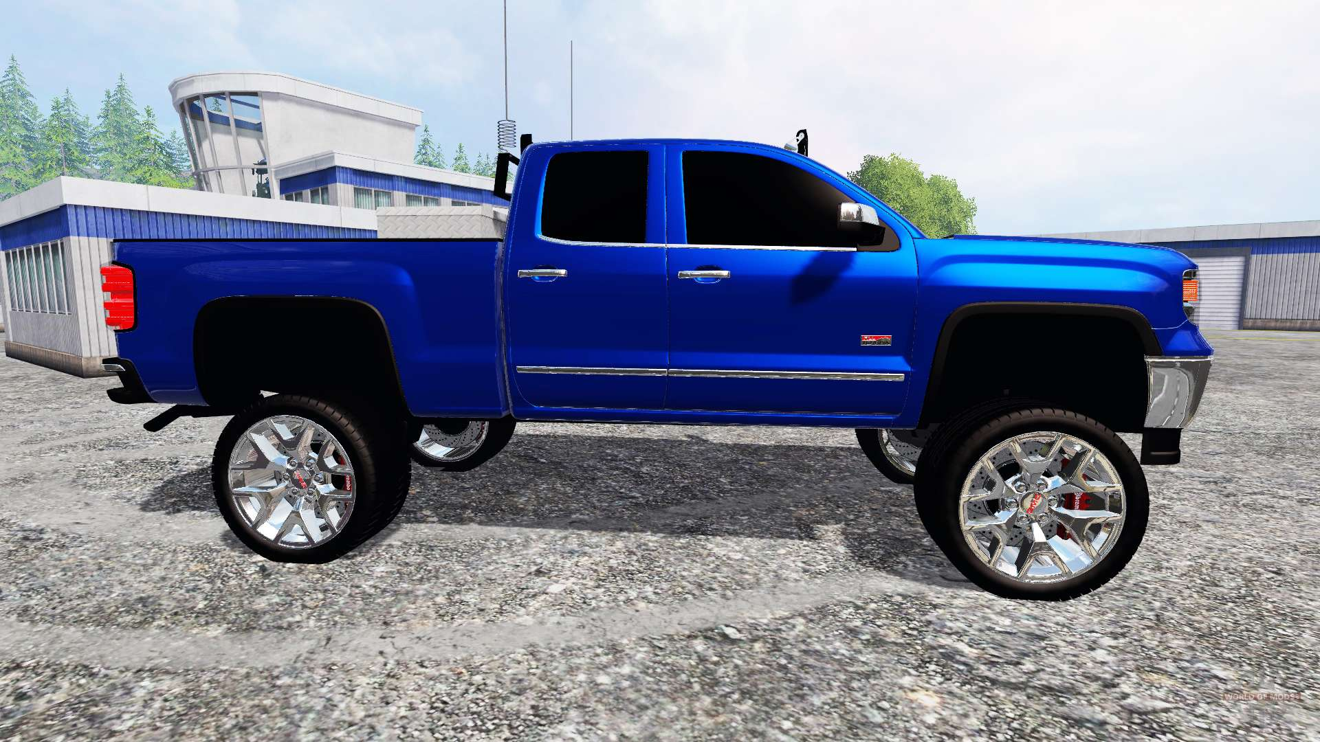 gmc sierra 1500 2014 lifted for farming simulator 2015. Black Bedroom Furniture Sets. Home Design Ideas