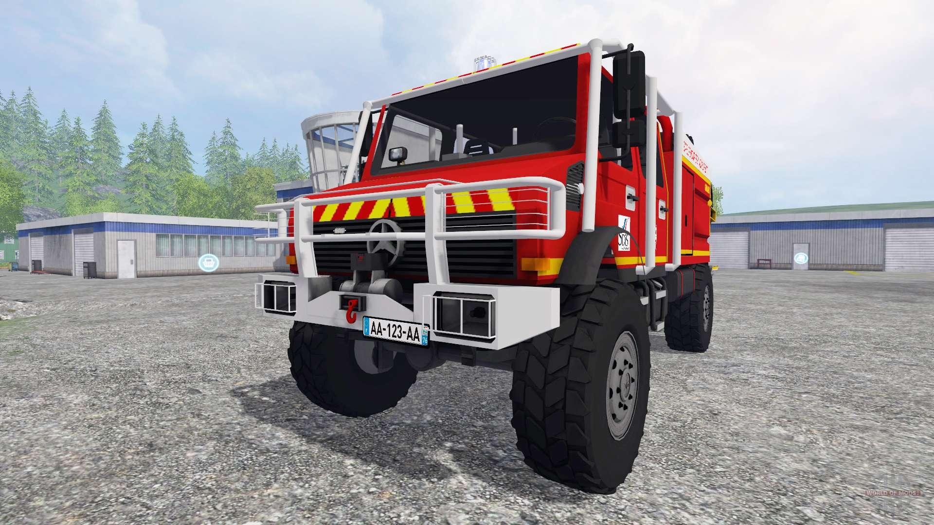 Mercedes Benz Unimog Fire Service For Farming Simulator 2015