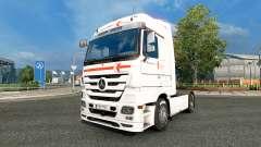 Skin Klaus Bosselmann on the tractor unit Mercedes-Benz for Euro Truck Simulator 2