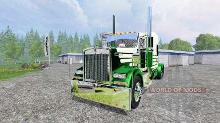 Kenworth W900L 2007 [flattop] for Farming Simulator 2015