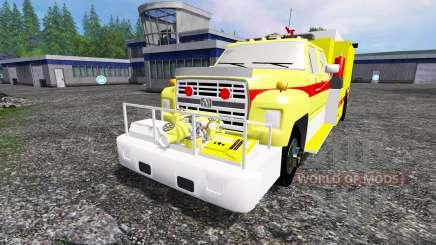 Ford F-800 [fire truck] for Farming Simulator 2015