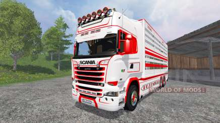 Scania R730 [cattle] v1.5 for Farming Simulator 2015