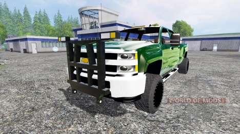 Chevrolet Silverado 3500 [plow truck] v2.0 for Farming Simulator 2015
