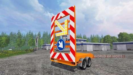 The signal trailer cover for Farming Simulator 2015