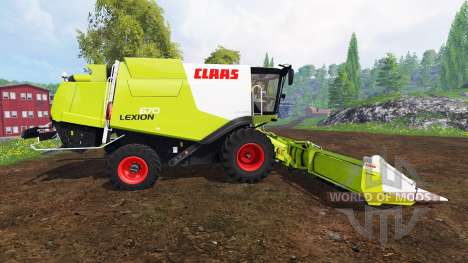 CLAAS Lexion 670 v1.2 for Farming Simulator 2015