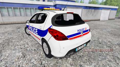 Peugeot 308 Police France for Farming Simulator 2015