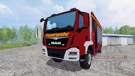 MAN TGM 14.250 Firetruck [blaulicht] for Farming Simulator 2015