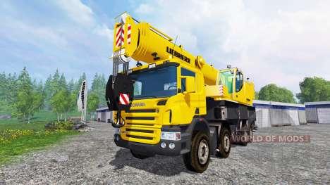 Scania P420 Liebherr LTF 1060 v1.1 for Farming Simulator 2015