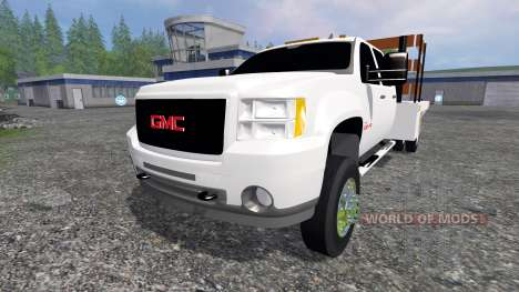 GMC Sierra 3500 [flatbed] v2.0 for Farming Simulator 2015