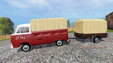 Volkswagen Transporter T2B [trailer] v1.1 for Farming Simulator 2015