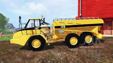 Caterpillar 725A [manure spreader] v2.0 for Farming Simulator 2015