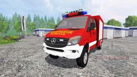 Mercedes-Benz Sprinter 316 [feuerwehr] v2.0 for Farming Simulator 2015