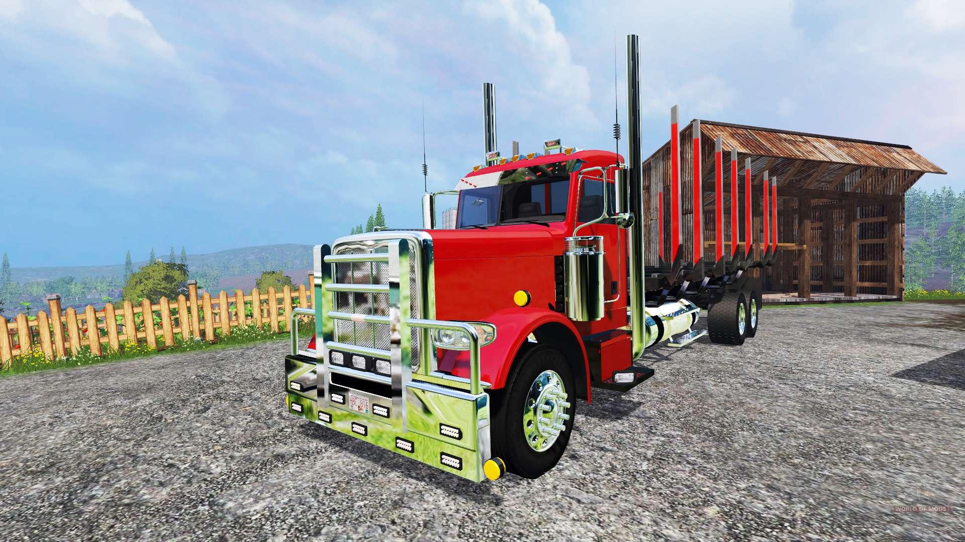 Peterbilt 388 log truck for farming simulator 2015 sciox Image collections