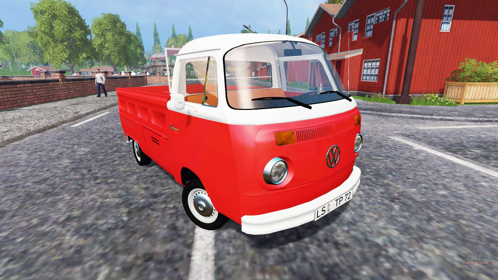 volkswagen transporter t2b 1972 bully for farming simulator 2015. Black Bedroom Furniture Sets. Home Design Ideas