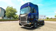 Blue Scorpion skin for Scania truck for Euro Truck Simulator 2