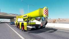 Mobile crane Liebherr in traffic for American Truck Simulator