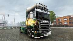 Skin Pirates of the Caribbean-on tractor for Scania for Euro Truck Simulator 2