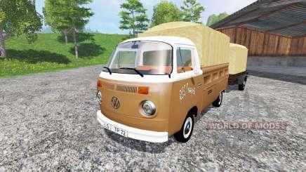 Volkswagen Transporter T2B [trailer] v1.2.1 for Farming Simulator 2015