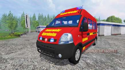 Renault Master [fire service] for Farming Simulator 2015