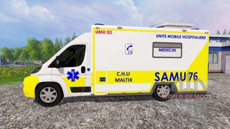 Peugeot Boxer SAMU for Farming Simulator 2015