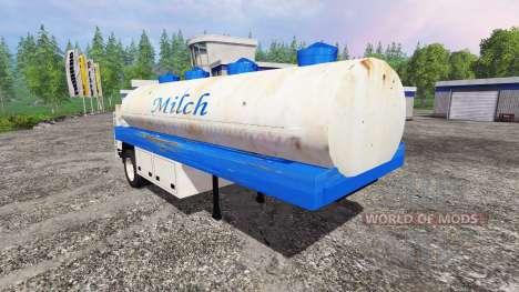 Milk tanker semi-trailer for Farming Simulator 2015