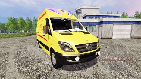 Mercedes-Benz Sprinter Ambulance v2.0 for Farming Simulator 2015
