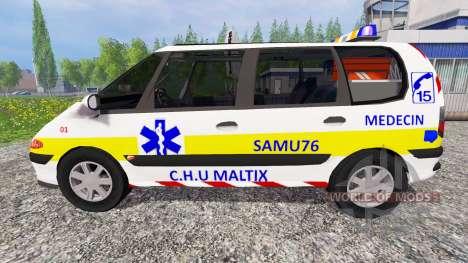 Renault Espace SAMU for Farming Simulator 2015