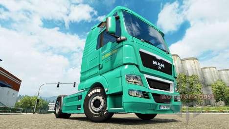 Skin J. Simmerer on the truck MAN for Euro Truck Simulator 2