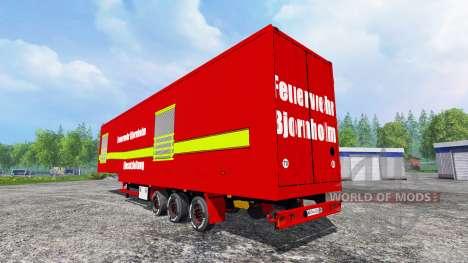 Полуприцеп Fire Bjornholm Management for Farming Simulator 2015