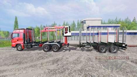 MAN TGS 33.440 [forest] v0.7 for Farming Simulator 2015