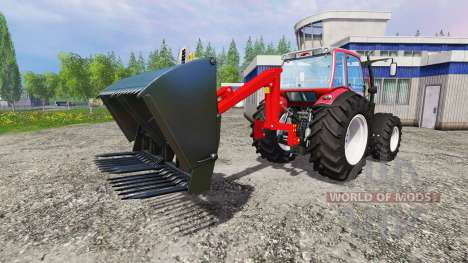 Rear mounted front loader for Farming Simulator 2015