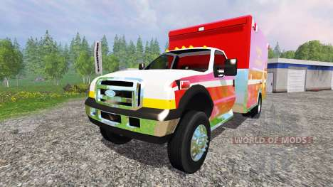 Ford F-350 [fire department] for Farming Simulator 2015