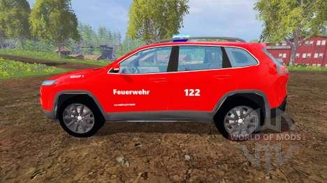 Jeep Cherokee KL 2014 [feuerwehr] for Farming Simulator 2015