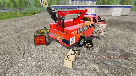 Ford F-350 [sapeur pompier] for Farming Simulator 2015