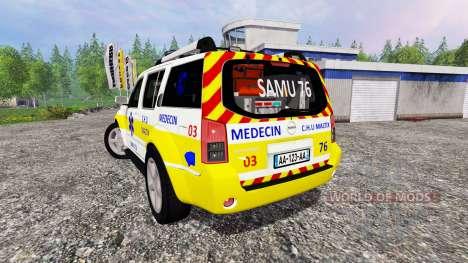 Nissan Pathfinder SAMU for Farming Simulator 2015