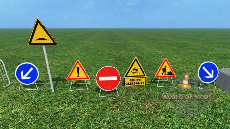 Construction Signs v1.1 for Farming Simulator 2015