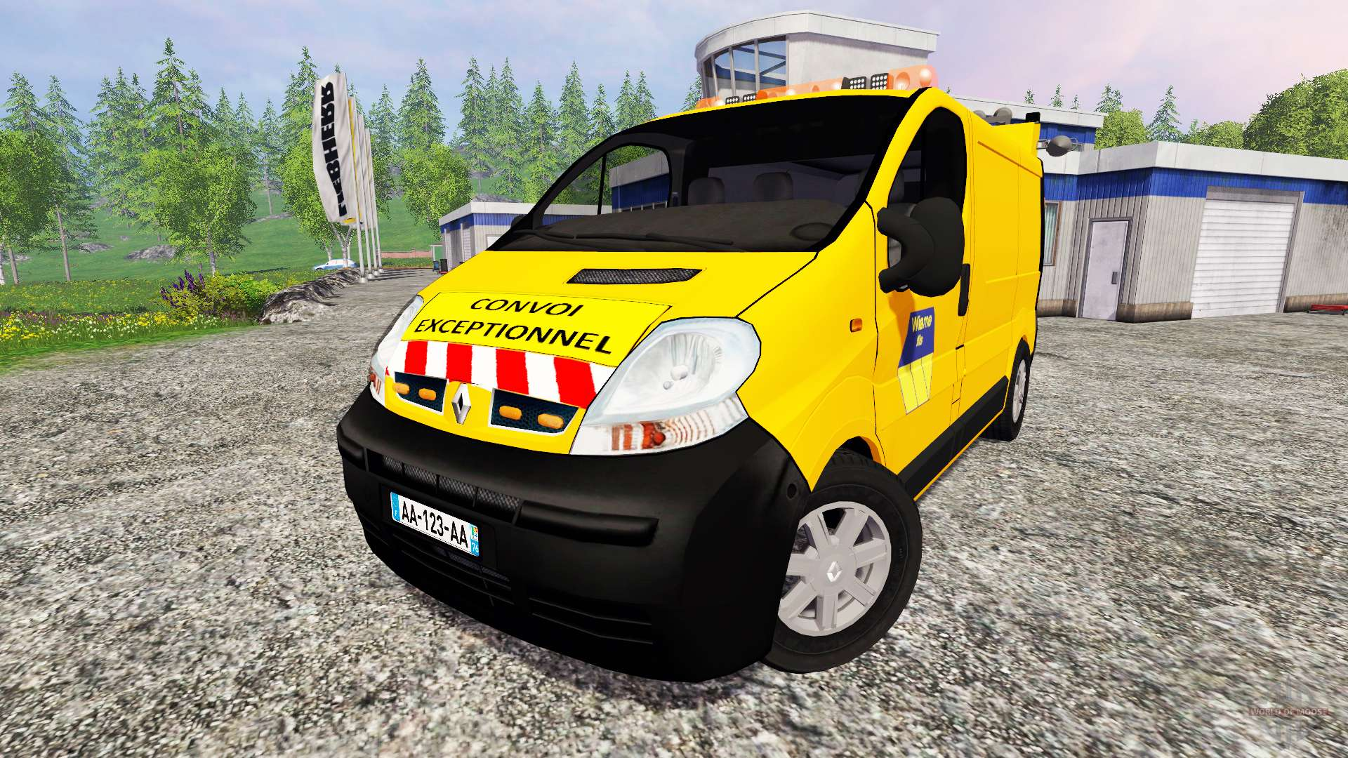 renault trafic convoi exceptionel for farming simulator 2015. Black Bedroom Furniture Sets. Home Design Ideas