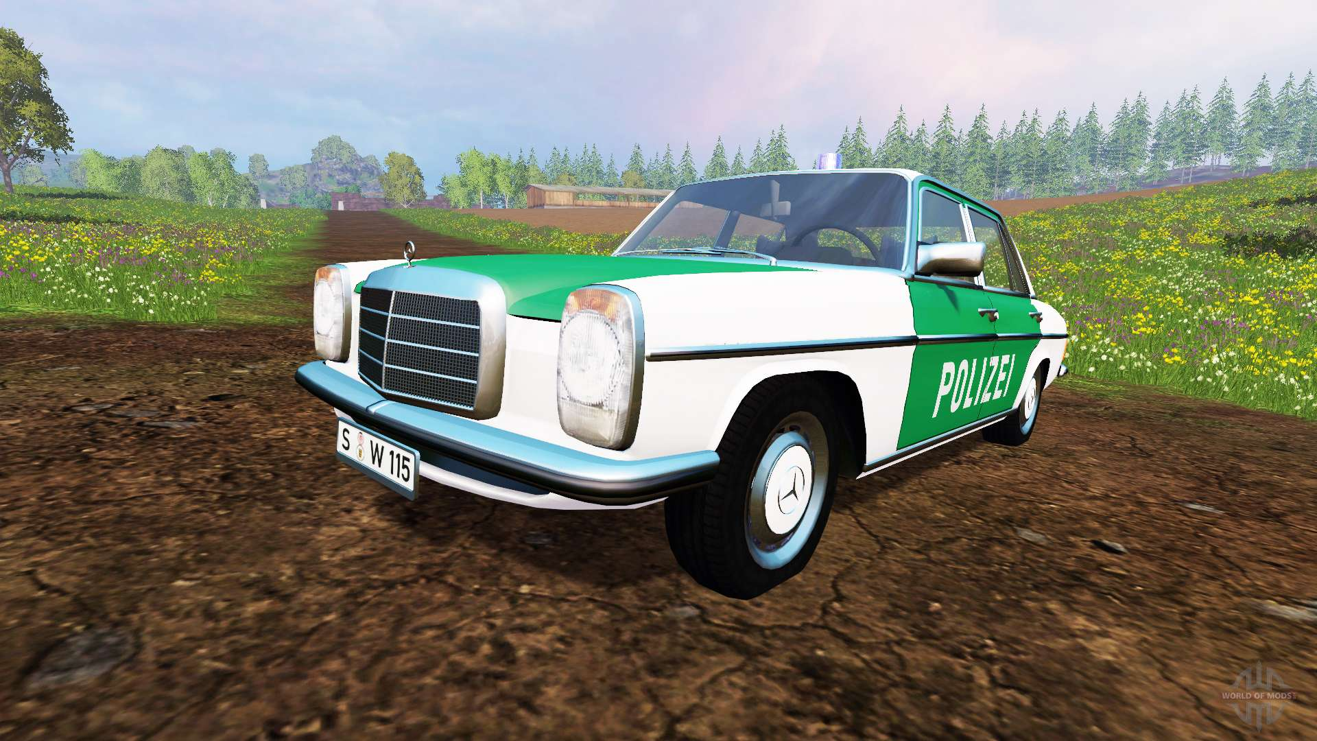 mercedes benz 200d w115 1973 police for farming simulator 2015. Black Bedroom Furniture Sets. Home Design Ideas