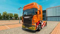 Heavy Transport skin for Scania truck for Euro Truck Simulator 2