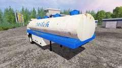 Milk tanker semi-trailer