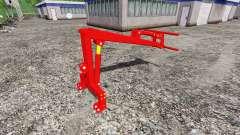 Rear mounted front loader