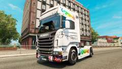 Music skin for Scania truck for Euro Truck Simulator 2
