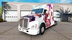 Skin Hanamiya Nagisa on a Kenworth tractor for American Truck Simulator