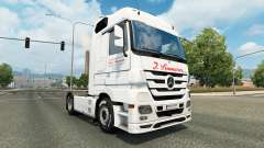 Skin J. Simmerer on the tractor unit Mercedes-Benz for Euro Truck Simulator 2