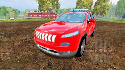 Jeep Cherokee KL 2014 [feuerwehr] for Farming Simulator 2015