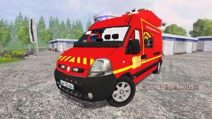Renault Master [sapeurs-pompiers] SDIS60 for Farming Simulator 2015