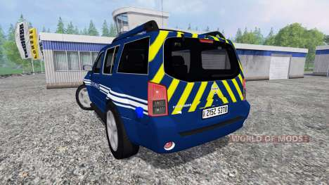 Nissan Pathfinder Gendarmerie for Farming Simulator 2015
