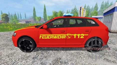 Audi RS3 8PA [feuerwehr] v0.9 for Farming Simulator 2015