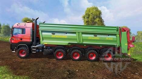 MAN TGS 10x8 [manure] v1.2 for Farming Simulator 2015