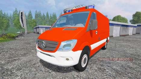 Mercedes-Benz Sprinter [einsatzleitwagen] for Farming Simulator 2015